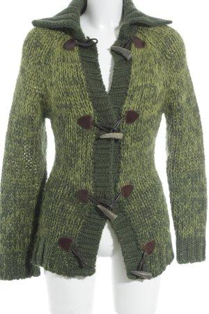 D&G Veste en laine vert gazon-vert molletonné