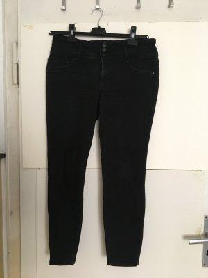 7/8-jeans zwart Katoen