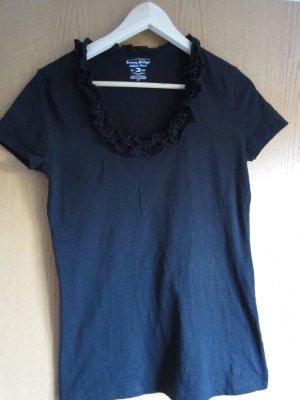Tommy Hilfiger Shirt schwarz mit Perlen