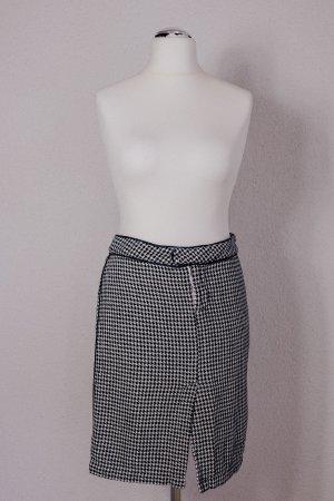 Da-Nang Da Nang Rock Pencil Skirt Bleistiftrock Pepita Hahnentritt schwarz weiß Gr. 36