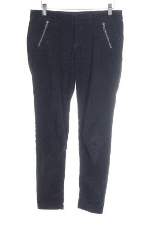 Dagmar Pantalon en velours côtelé noir style décontracté