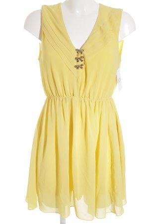 Dahlia A-Linien Kleid gelb Romantik-Look
