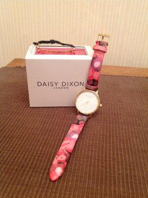 Daisy Dixon Armbanduhr rosé/ pink und schwarzes Armband