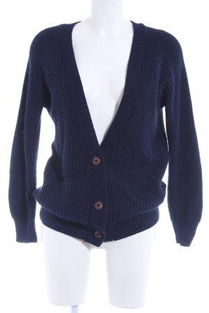 Daisy Street Veste tricotée en grosses mailles bleu foncé acrylique