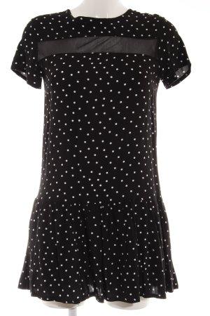 Daisy Street Kurzarmkleid schwarz-weiß Punktemuster Casual-Look