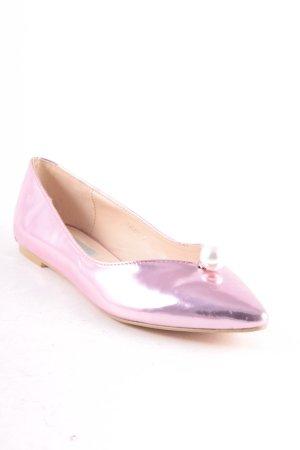 Daisy Street Bailarinas de charol con tacón rosa estilo extravagante