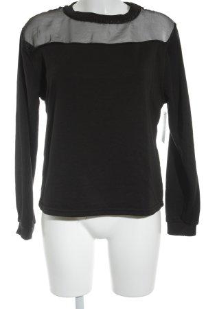 Daisy Street Rundhalspullover schwarz minimalistischer Stil