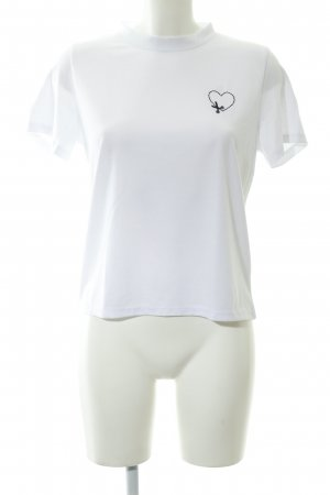 Daisy Street T-Shirt weiß-schwarz Casual-Look