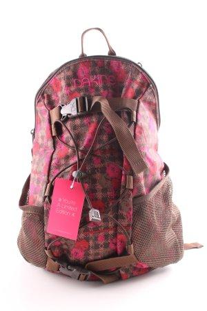 Dakine School Backpack pink-brown allover print casual look