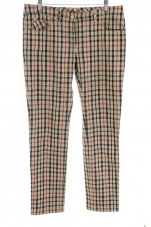 Daks Five-Pocket Trousers bronze-colored-cream allover print business style