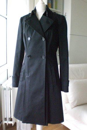 Daks London Trenchcoat Mantel schwarz Gr. 36 NEU