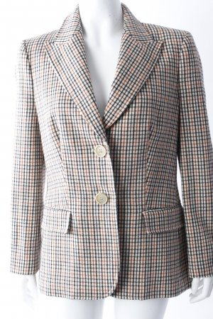 Daks London wool blazer beige patterned