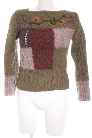 Daks Maglione di lana motivo floreale stile romantico