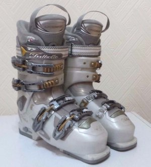 Boots white-gold-colored