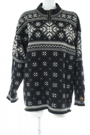 Dale of Norway Norwegian Sweater black allover print simple style