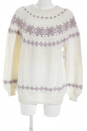 Dale of Norway Jersey estilo Noruego crema-lila look casual