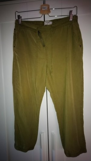 Cream 7/8 Length Trousers olive green