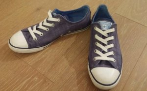 Damem Converse Dainty Denim Ox All Star Chuck Taylor - Ensign Blau