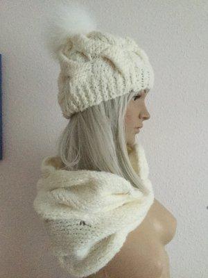 Sombrero de punto blanco-blanco puro Lana