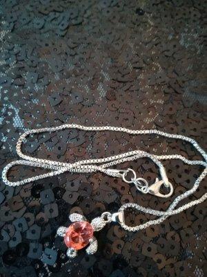 Silver Chain silver-colored-bright red