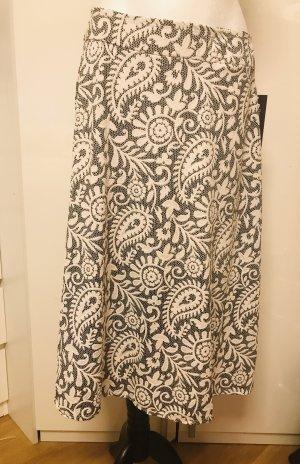 Midi Skirt white-grey