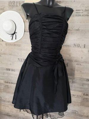 Damen Abendkleid NEU ✔ Petticoat Cocktailkleid Trägerkleid Tanzkleid Bindeschleife Bandeau Ausschnitt Midikleid knielanges Kleid passt bei Grö0e 36