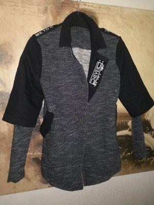 Tailleur-pantalon noir-gris