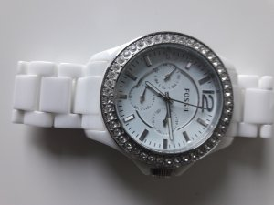 Fossil Montre analogue blanc