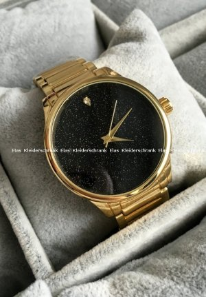 Damen Armbanduhr Gold Armschmuck Edelstahl sehr edel