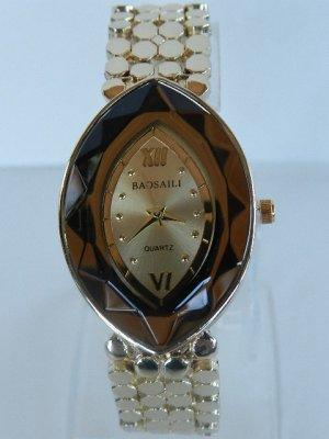 Damen Armbanduhr Gold/Braun - Eiformig