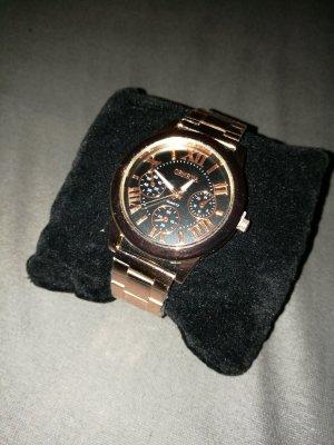 Damen Armbanduhr gold schwarz