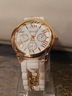 Orologio analogico oro-bianco