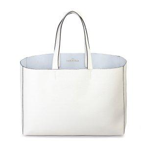 Bolsa de arpillera blanco Cuero