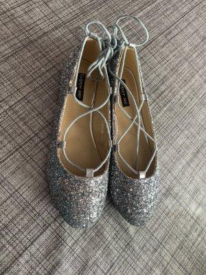 Super Me Foldable Ballet Flats silver-colored