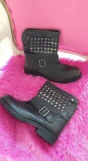Lazamani Halfhoge laarzen zwart