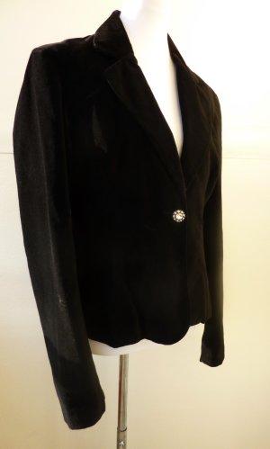Damen Blazer aus Samt schwarz Vero Moda mit Satin Zierknopf 38-40