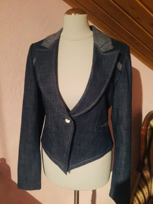 Denim Blazer white-cornflower blue