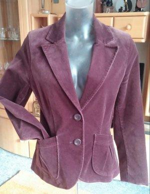 Damen Blazer Elegante Jacke Velours Imitat Gr.38 in Braun von H&M TOP Zustand