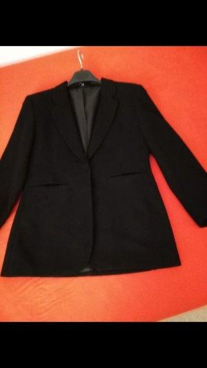 Damen Blazer Gr. 38 Schurwolle schwarz 80er