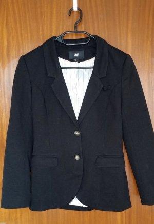 Damen Blazer Überzieher Jacke in schwarz Gr. 36 von H&M