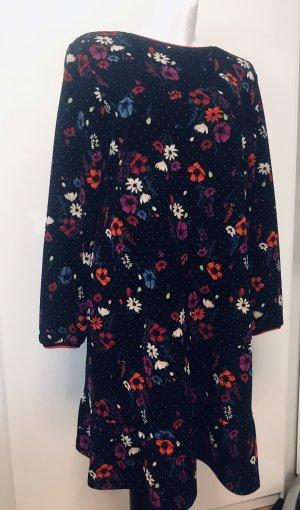 Damen Blumen Kleid Schwarz L/XL Neu