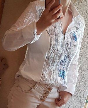 Damen Bluse Biba Weiß langarm Gr. 36 - Neuwertig
