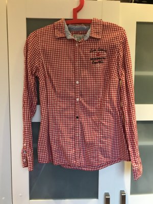 Arqueonautas Blusa-camisa blanco-rojo