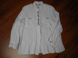 Avitano Long Sleeve Blouse white viscose