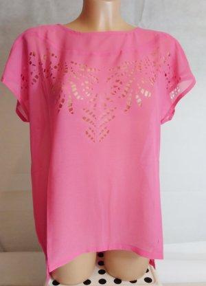 Bodyflirt Short Sleeved Blouse pink polyester