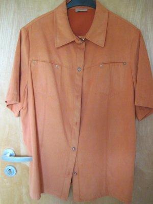 Damen Bluse für den Sommer / Damen Sonmmerbluse, orange, Gr. 46
