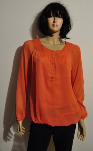 Esprit Long Sleeve Blouse neon orange synthetic fibre