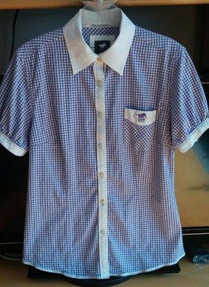 Damen Bluse Hemd Sommer Gr.L in Lila/Weiß kariert von Polo Sylt