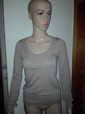 Damen Bluse in graubraune Farbe,elastisch.