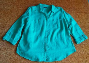 Damen Bluse Leinen Hemd Gr.46 in Mintgrün von Gerry Weber